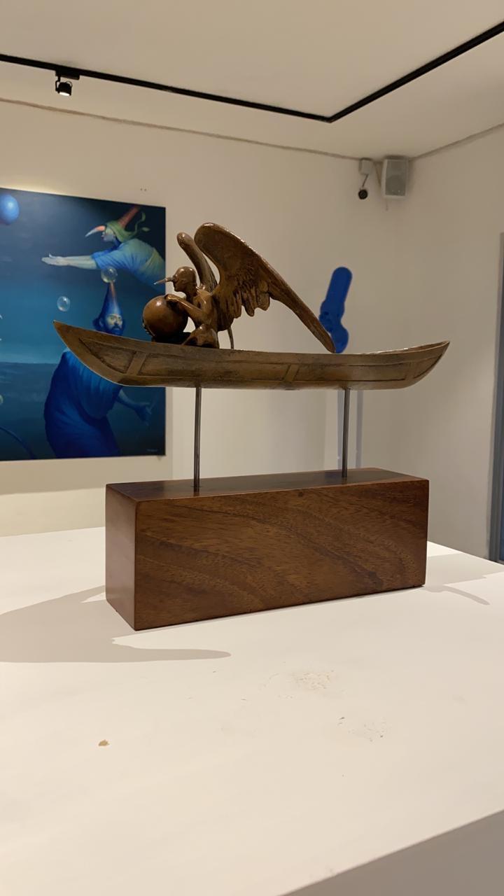 Barca,escultura, bronce, Jorge Marin, escultura mexicana