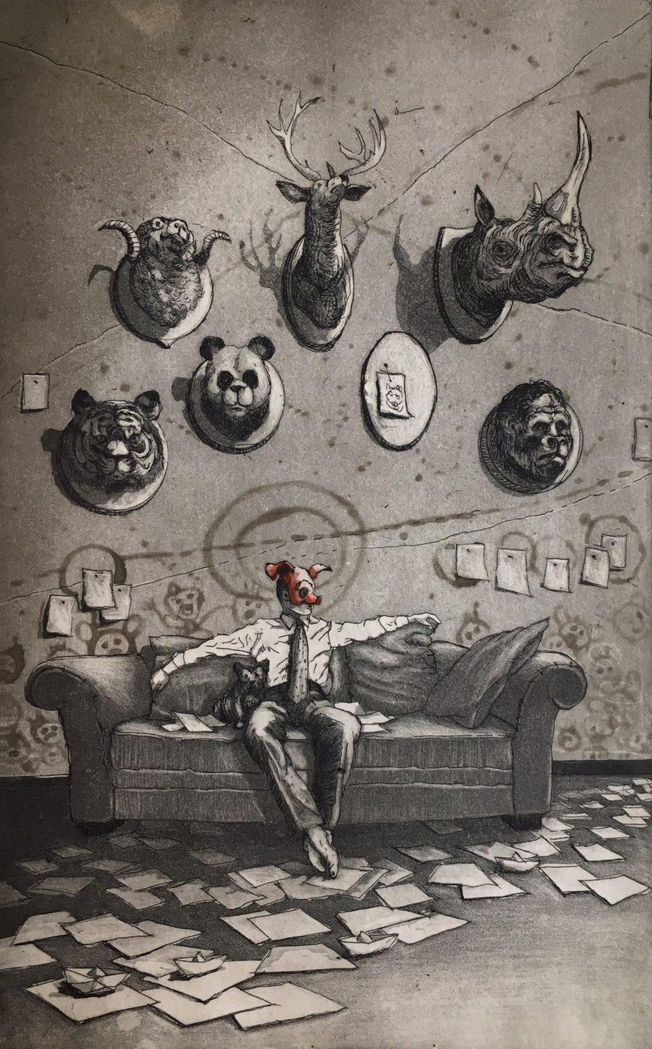 Rocío Caballero, arte, arte mexicano, Gráfica, figuración, art, Mexican art,